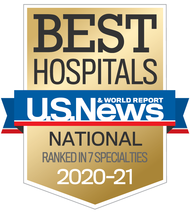 best Nationl hospitals US News and World report 2019